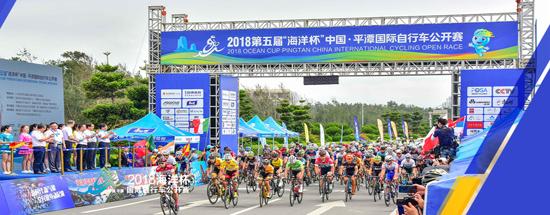 """2018年""""海洋杯""""平潭国际自行车公开赛首次启用海山重器参与赛事保障"""